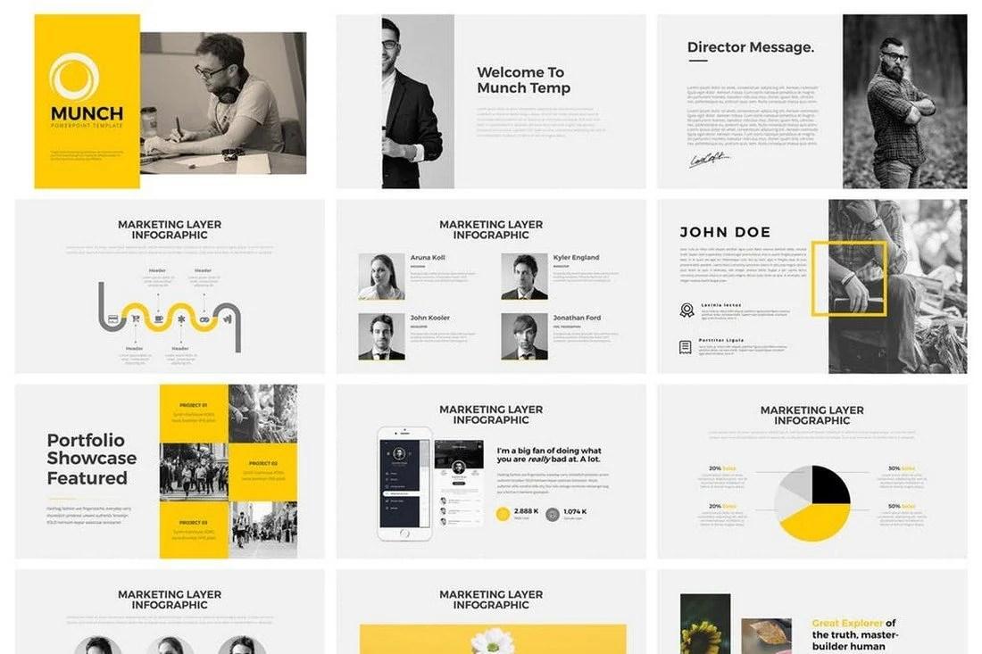 60+ Beautiful, Premium PowerPoint Presentation Templates 41