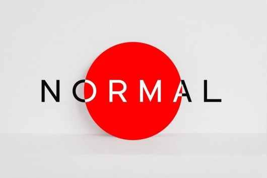 NORMAL - Minimal Sans Serif Typeface