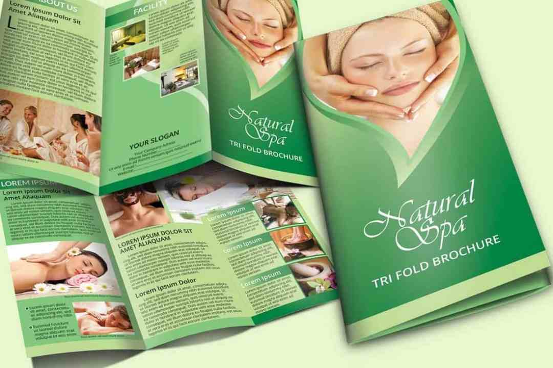 Natural Spa Trifold Brochure Template