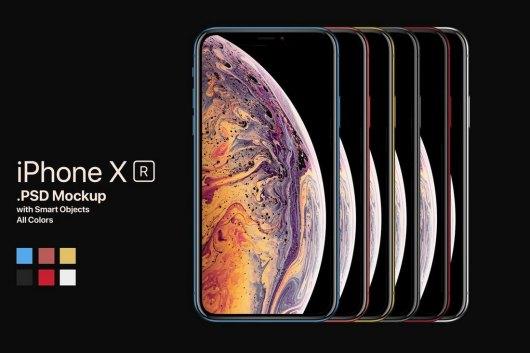 New iPhone XR Mockup All Colors