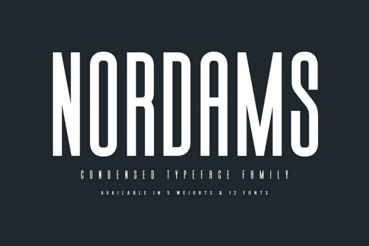Nordams - Narrow Font