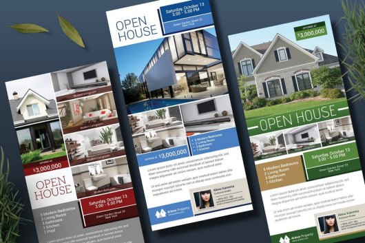 Open House Real Estate Rack Card Template