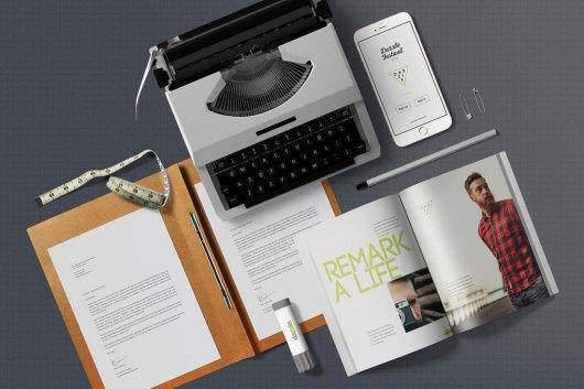 Open Magazine Mockup Scene Generator