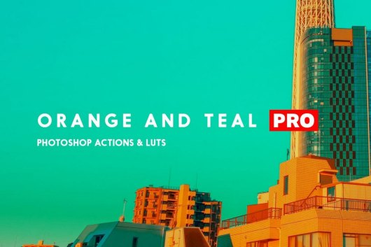 Orange and Teal Pro - Photoshop Instagram Filters