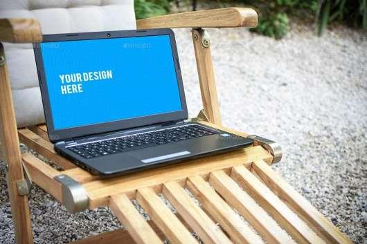 Outdoor Laptop Mockups