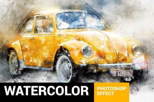 Perfectum 3 - Watercolor Photoshop Action