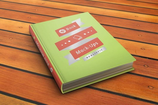 Photorealistic ID Book Cover Mockup