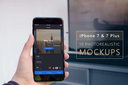 Photorealistic iPhone 7 & 7 Plus Mockups
