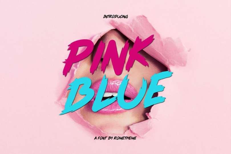 Pink Blue font