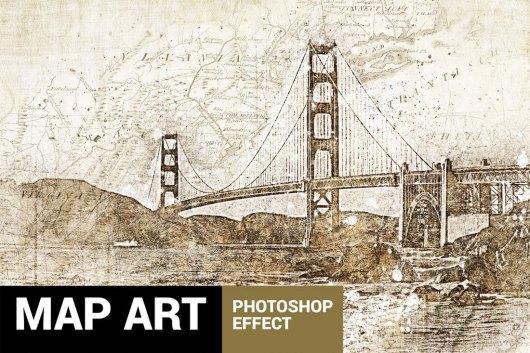 Piratum - Map Art Photoshop Action