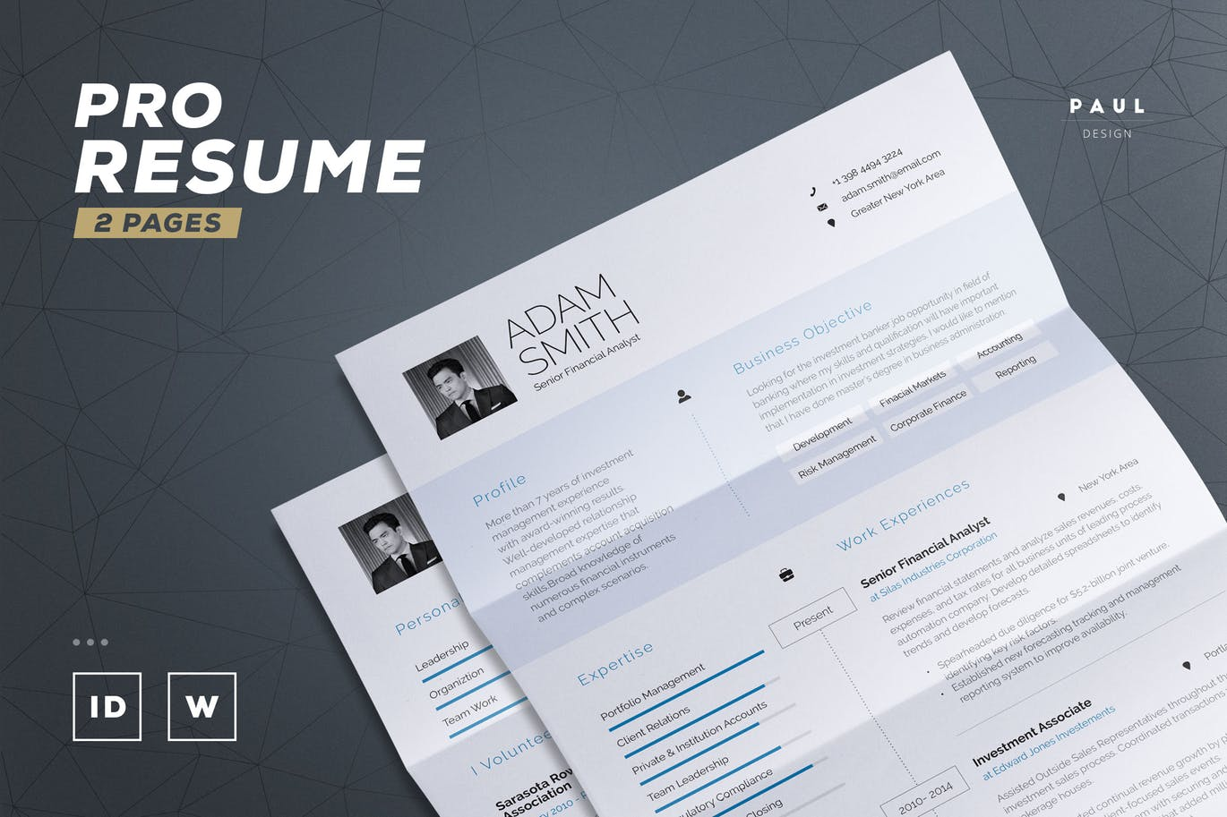 50  Best CV   Resume Templates of 2018   Design Shack This is a resume template with a professional design  It comes in both Word  and InDesign formats  The template has 2 pages and a cover letter