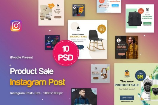 Product Ad Instagram Post Templates