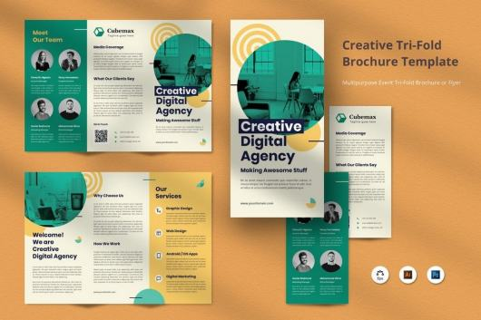 Professional Brochure Tri-Fold Template