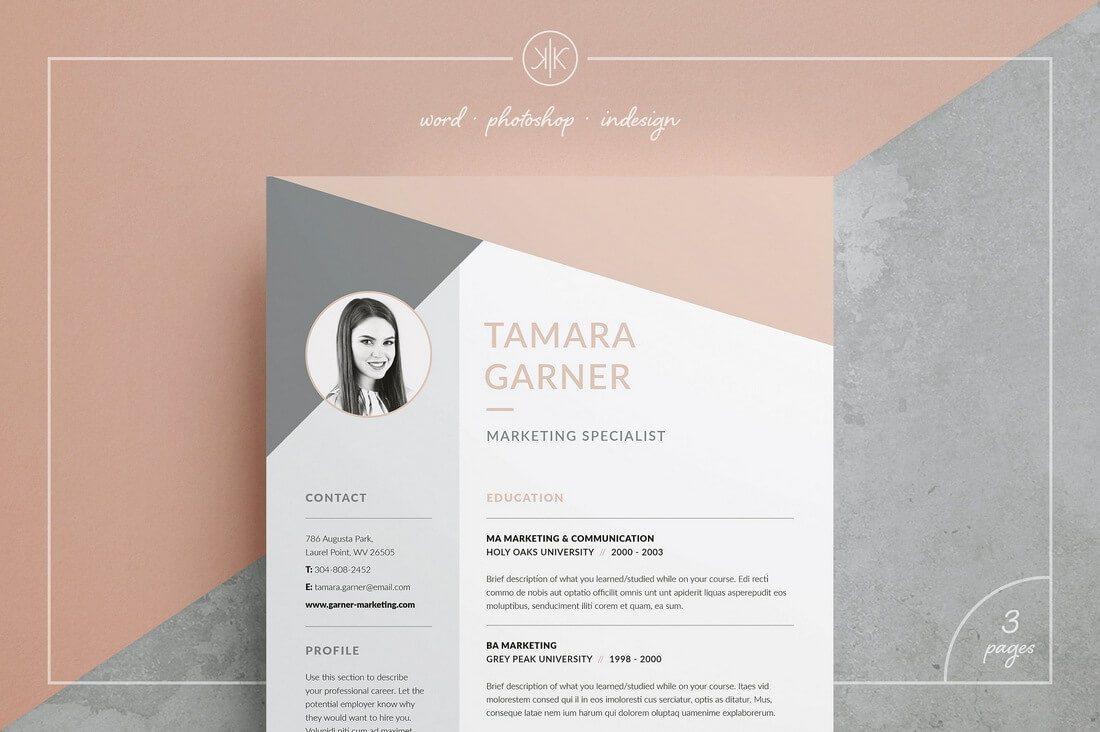 50 Best CV Amp Resume Templates Of 2019 Design Shack