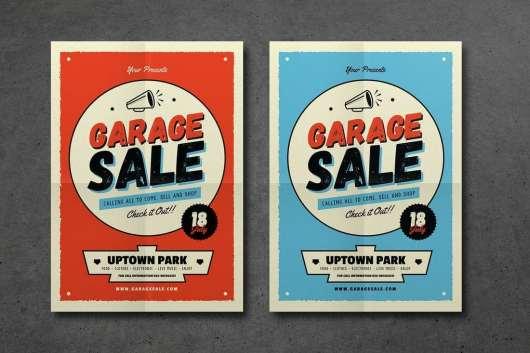 Retro Garage Sale Event Flyer 2