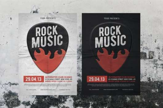 Rock Music Flyer & Poster Template