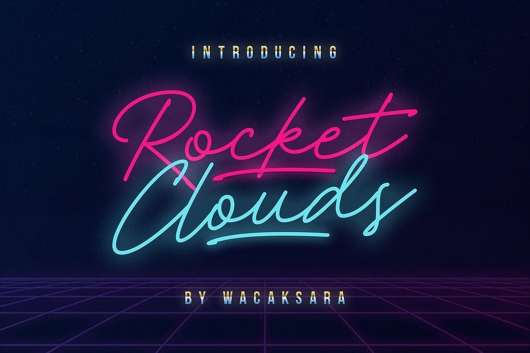 Rocket Clouds Free Font