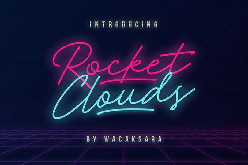 Rocket Clouds Free Font