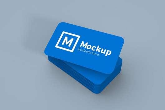 Round Edges Business Card Mockup