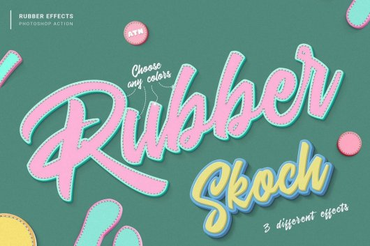 Rubber Effects Photoshop Action