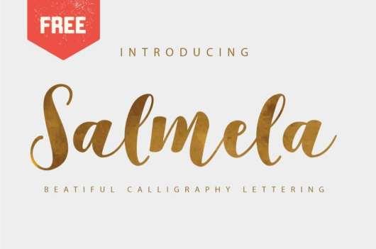 Salmela - Free Caligraphy Font