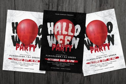 Scary Halloween Flyer Template