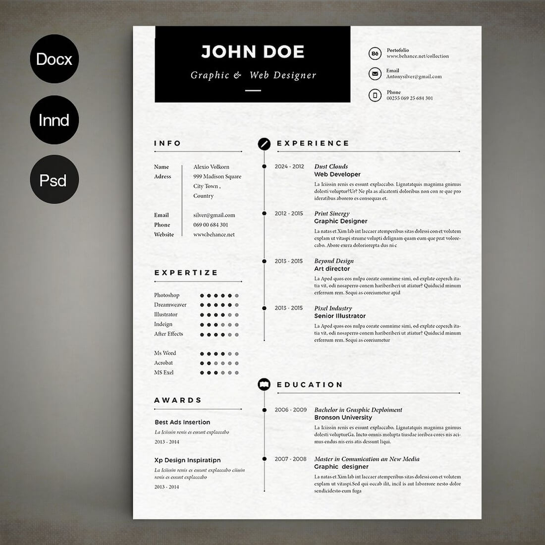 The Best CV & Resume Templates: 50 Examples 24