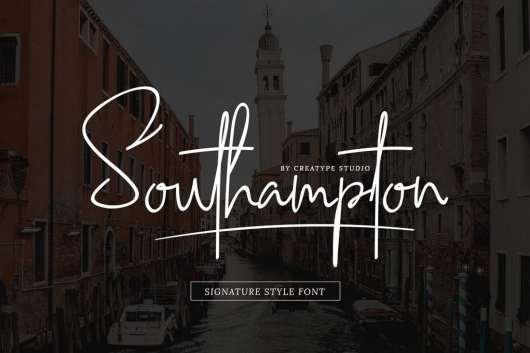 Southampton Signature Free Font