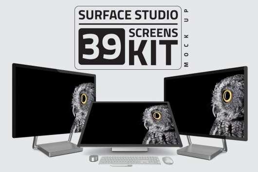 Surface Studio Computer Mockup Kit Bundle