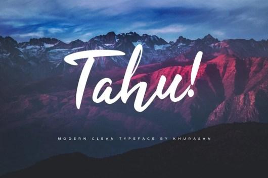TAHU! - Free Script Font