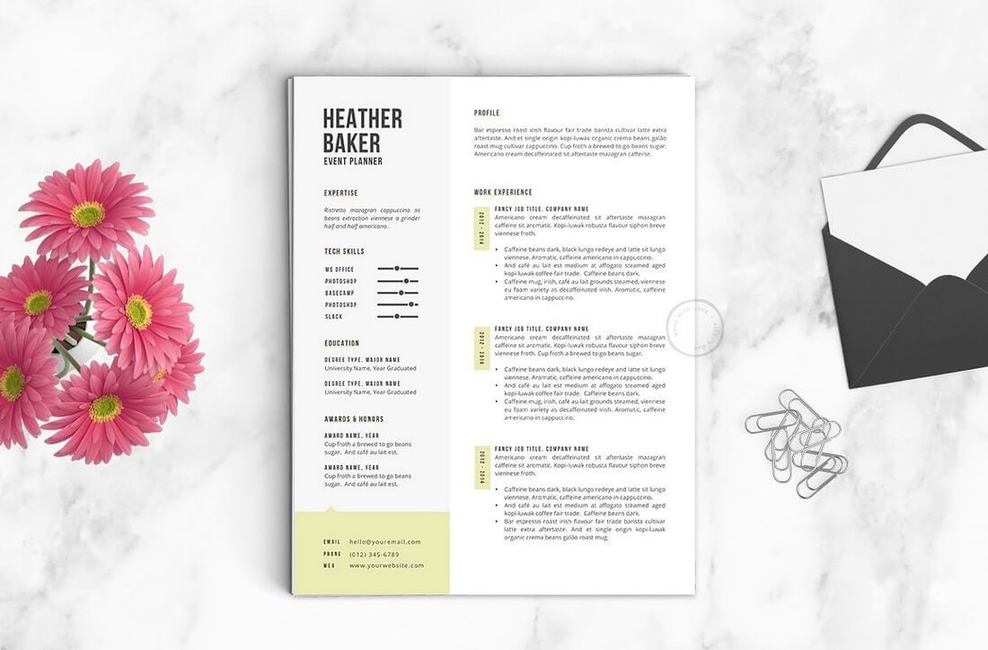 The Best CV & Resume Templates: 50 Examples 28