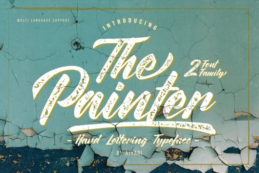 The Painter - Vintage Poster Font