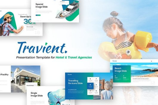 Travient Hotel & Travel Agency PowerPoint Template