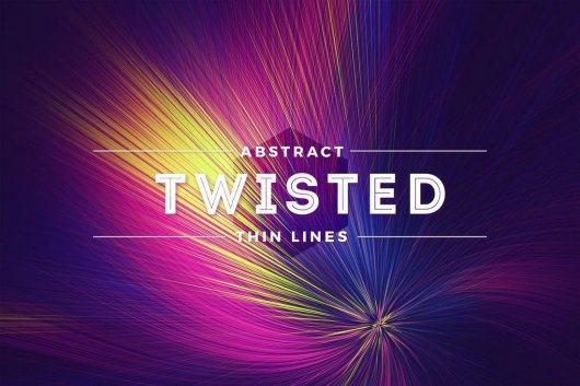 Twisted Thin Lines Colorful Background