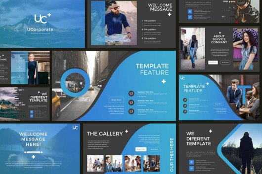 UCorporate - Cool Business PowerPoint Template