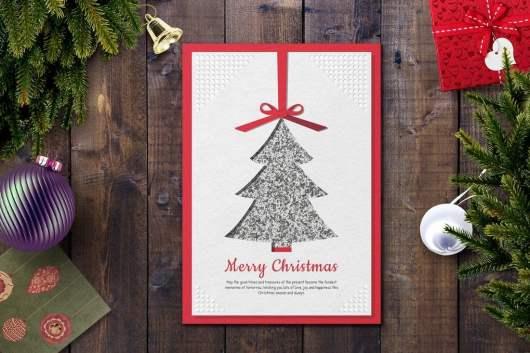 Unique Christmas Card Template