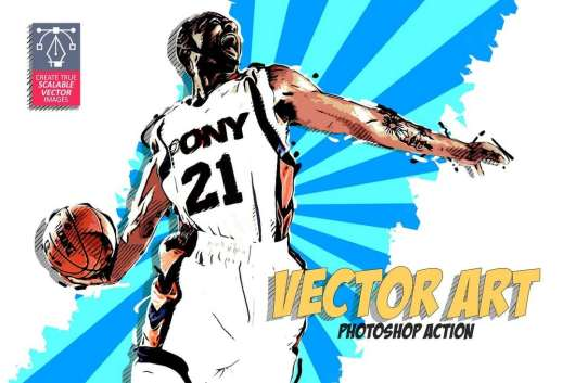 Vector Art Photoshop Action