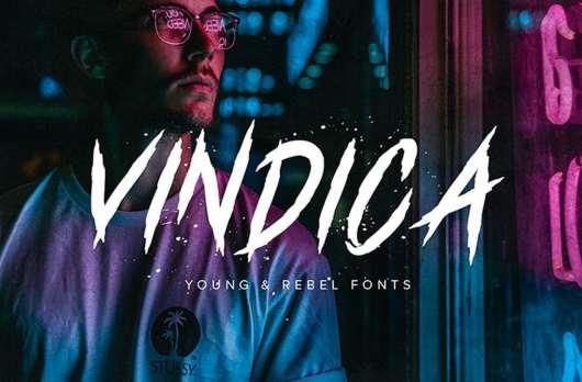 Vindica Rebel Typeface