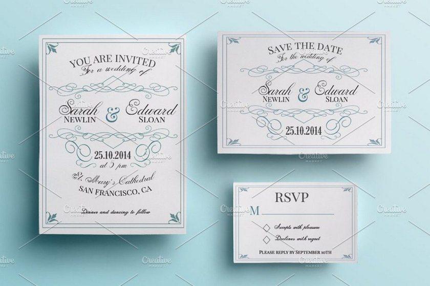 Vine Wedding Invitation Pack