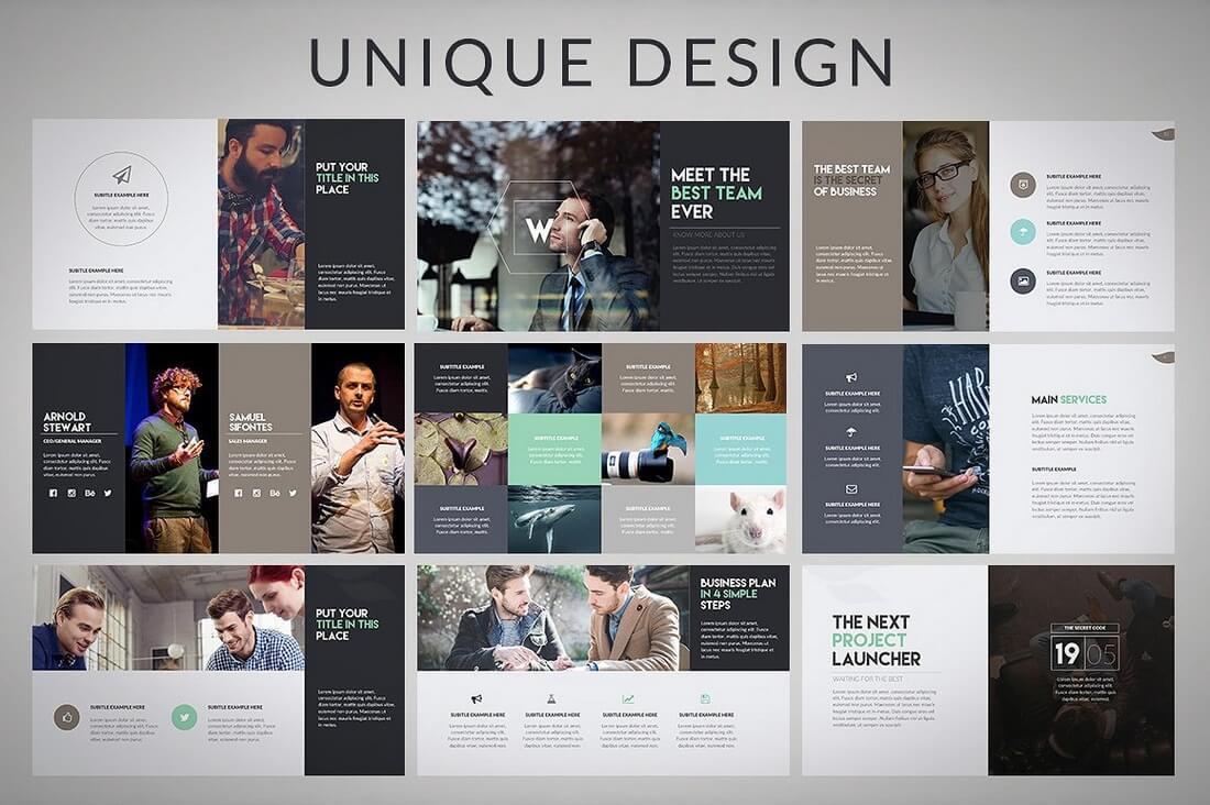 60+ Beautiful, Premium PowerPoint Presentation Templates 58