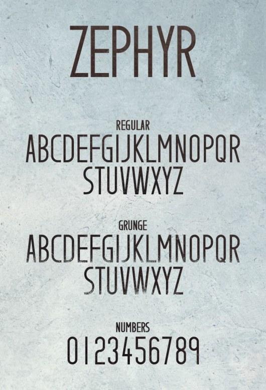 Zephyr Typeface 2