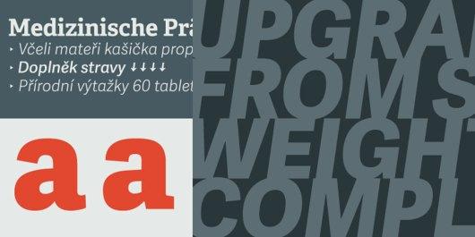 business card font