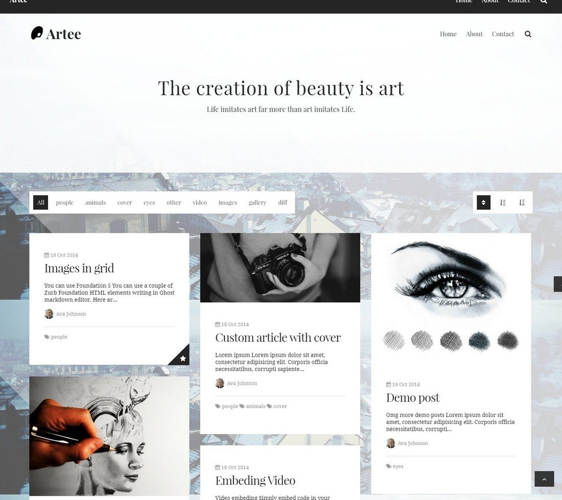 30 Beautifully Designed Ghost Themes