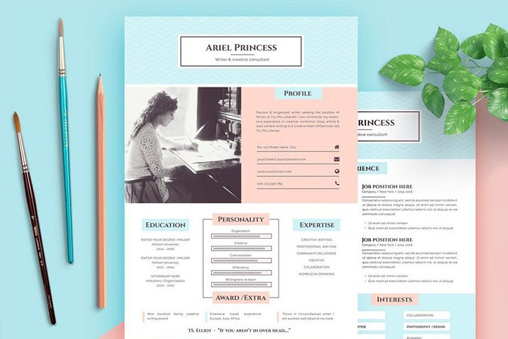 Best resume template for word & pages online, one, two, three page resume template, professional resume with free cover letter, instant resume download cv. 35 Best Pages Resume Cv Templates 2021 Design Shack