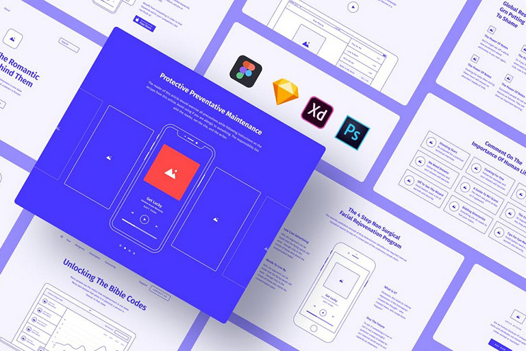 It only takes a few seconds to choose a basic template, insert text and images, and add the finishing touches. 30 Website Wireframe Templates For Sketch Photoshop More Design Shack