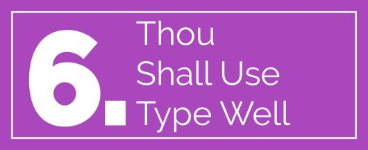 web design commandments