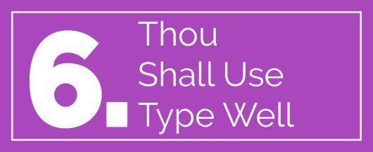 web design commandments