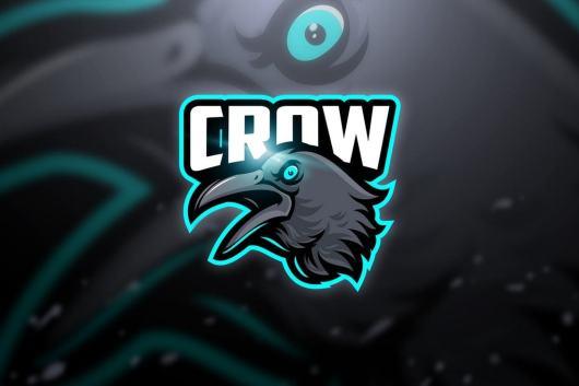 crow neon color logo