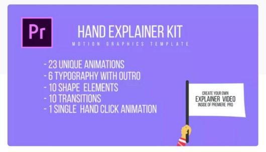 hand explainer premiere pro template