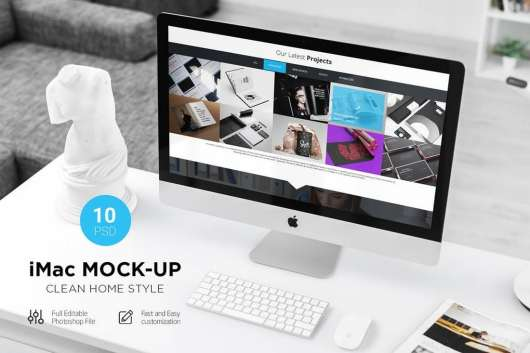 iMac Desktop Computer Mockup